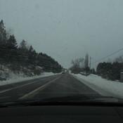 Dans la neige ce matin