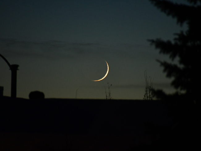 Moon setting Fort McMurray