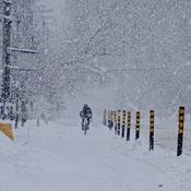 En vélo ce matin...