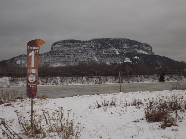 MOUNT MCKAY on a DREARY DAY 14 Quebec St, Thunder Bay, ON P7E 6T9, Canada