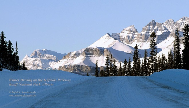 Winter Driving On The Icefields Parkway AB-93, Improvement District No. 9, AB T0L, Canada