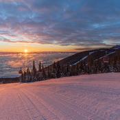 Lever de soleil sur le Massif de Charlevoix!