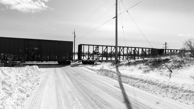 Train at Snowy Road Paris, Brant, ON