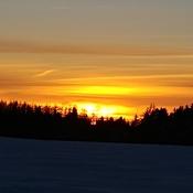 et coucher de soleil...