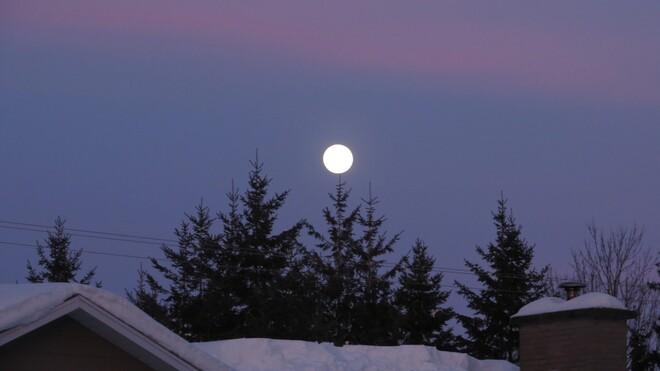 Lever de lune Trois-Rivières, QC
