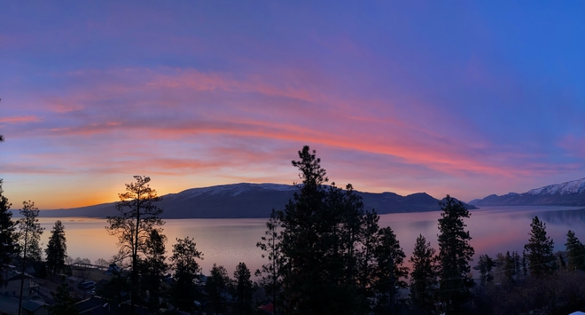 Okanagan Park Sunrise taken from our deck in Peachland,BC Peachland, British Columbia | V0H 1X4