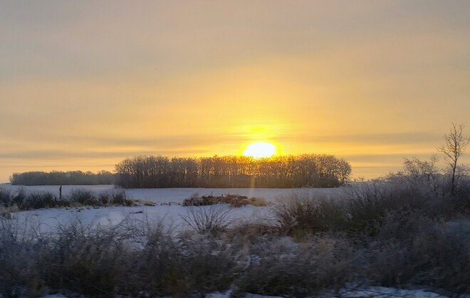 A Frosted Sunrise Fort Qu'Appelle, SK