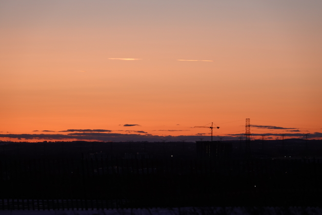 Just after Sunset today! Oshawa ON,
