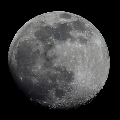 Waxing Gibbous Moon Edmonton, AB