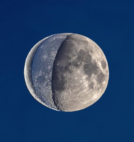 La lune en quartier Saint-Aimé-des-Lacs, QC