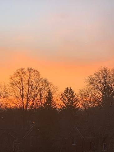 Sun at 6:40am Waterloo, ON