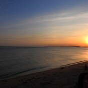 Coucher de soleil Pointe du Lac 10 avril 2021