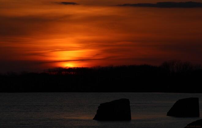 Coucher de soleil Pointe du Lac 10 avril 2021 Trois-Rivières, QC