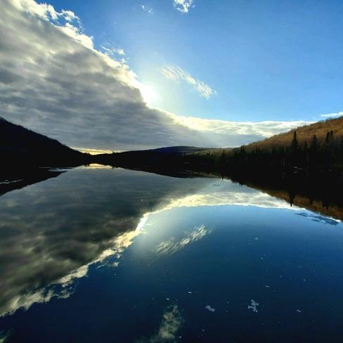 Lac dégager Saint-Adolphe-d'Howard, QC