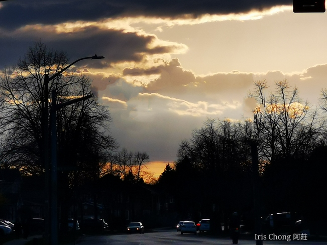Sunset Nature Painting 7:25pm 12C Thornhill - April 17 2021 Thornhill, ON