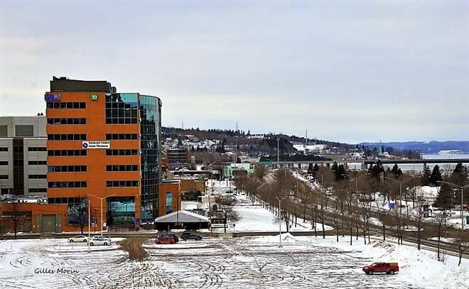 Le retour de la neige. Saguenay, QC