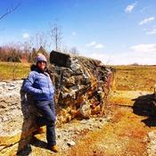 Les vestiges d'un vieux moulin