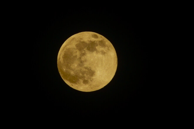 """April 26, 2021 """"pink"""" supermoon rising 8493-8425 Springhill Rd, Winchester, ON K0C 2K0, Canada"""