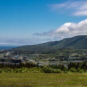 Vue sur Grande Vallée en Gaspésie