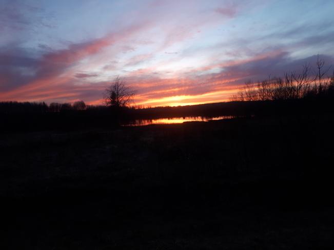 Super beau coucher de soleil Senneterre, QC