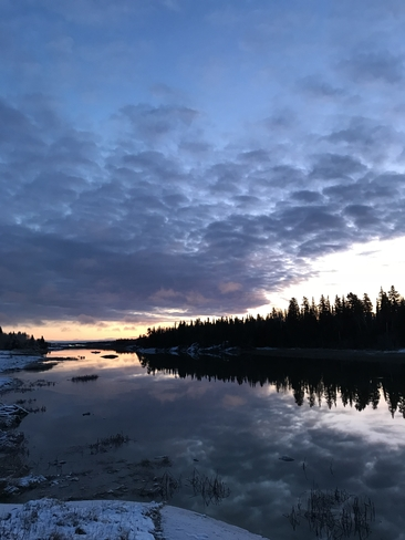 Sunrise on The Nelson River Norway House 17, Manitoba, CA