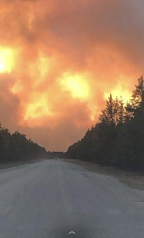 Forest fire Sandilands, MB