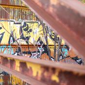 Graffiti au Cineparc abandonné de Laval