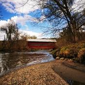 Le pont couvert au Parc de la Gorge de la Coaticook