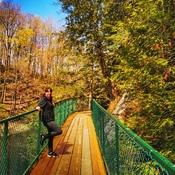 Passerelle au Parc de la Gorge de la Coaticook