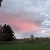 sunset pink cloud