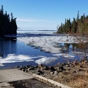 wow lake nipigon still has ice on it