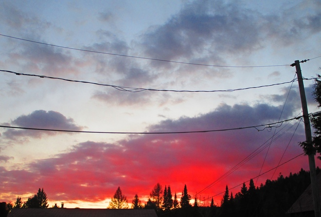 Beau ciel Sainte-Agathe-des-Monts, QC