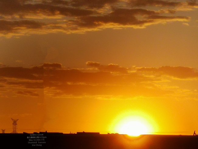 Ilusion golden sunset 8:20pm 17C - Thornhill May 14 2021 Thornhill, ON