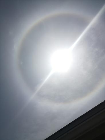 halo autour du soleil Sherbrooke, QC