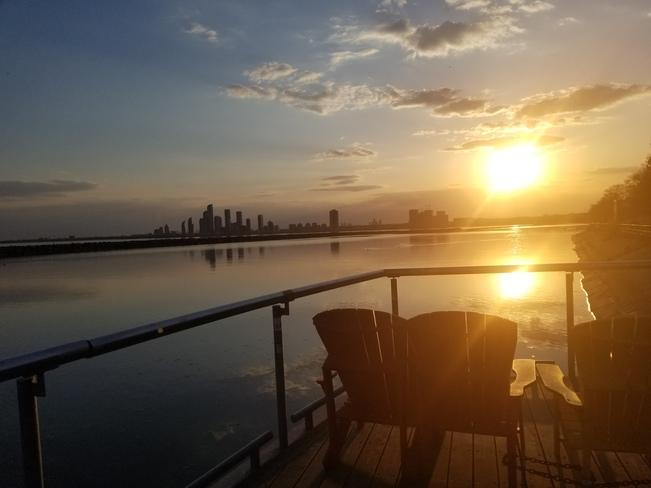 Glistening sunset overlooking Etobicoke Toronto, ON