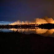 Forest fire on the River