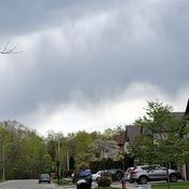Batman in the clouds