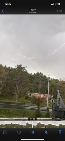 Thunder,lightening and hail storm in camperdown may 17th Hebbville, Nova Scotia, CA