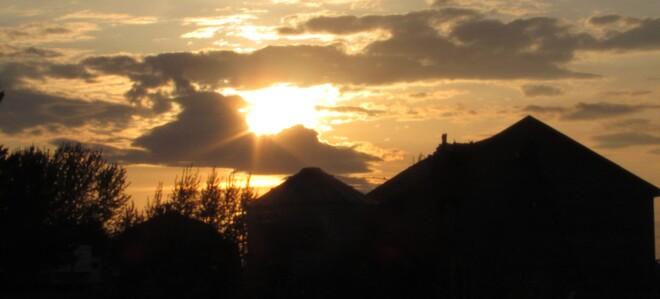 Au coucher du Soleil Véloroute des Bleuets, Chambord, QC G0W 1G0, Canada
