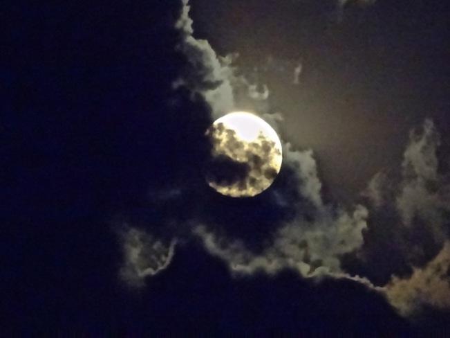 Pleine lune des fleurs et super lune