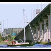 Trois-Rivières, au pied du pont Laviolette.