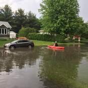 kayak en pleine rue