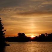 Pre-eclipse sunrise