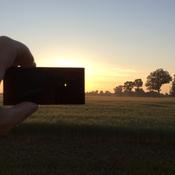 Sunrise partial eclipse