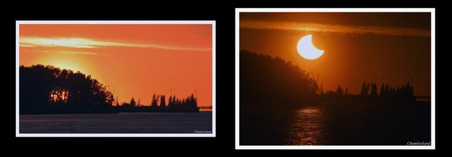 Eclipse 10 juin, Trois-Rivieres. Trois-Rivières, QC