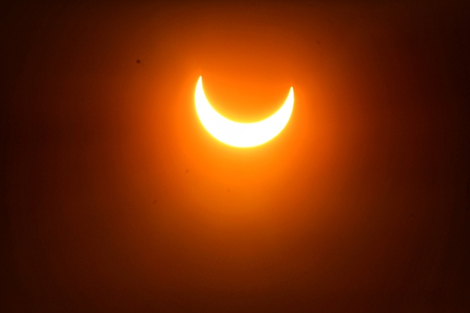 Partial solar eclipse Moncton, NB