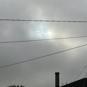 view of June 10, 2021 solar eclipse 7:07 am
