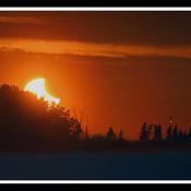 Trois-Rivières, éclipse partielle, 05h:05.