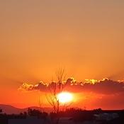 Levé du soleil de La Prairie