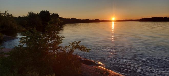 coucher soleil Saint-Prime, QC